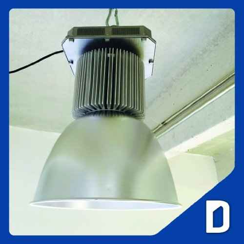 100W High Bay Led Light Fixture - Ac100-240V - Cool White - 16 In. - Ip65 - Commercial / Industrial Flood Lighting - Aluminum Refractor Die-Cast Housing - Electrical Box - High Roof Ceiling - Lamp - Garage Warehouse Storehouse Storage Industries Commercia