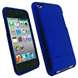 IGadgitz Blue Rubber Coated Hard Case Cover for Apple iPod Touch 4th Generation 4G 8gb, 32gb, 64gb + Screen Protector