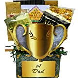 Art of Appreciation Gift Baskets No.1 Dad Trophy Gift Box of Snacks and Treats