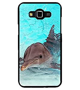 ColourCraft Lovely Dolphin Design Back Case Cover for SAMSUNG GALAXY GRAND MAX G720