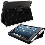 Snugg Étui Pour iPad Mini & Mini 2 - Smart Case Avec Support Pied Et Une Garantie à Vie (En Cuir Noir) Pour Apple iPad Mini & Mini 2