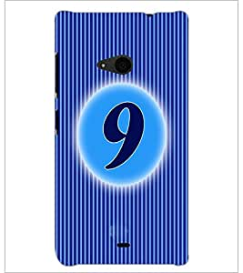 PrintDhaba Numerology Number 9 D-2565 Back Case Cover for MICROSOFT LUMIA 535 (Multi-Coloured)