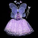 ハロウィン仮装衣装コスプレコスチューム子供キッズ子ども用こども妖精の羽ウイングアクコスチューム用小物女の子天使コスプレエンジェルウィング(パープル)