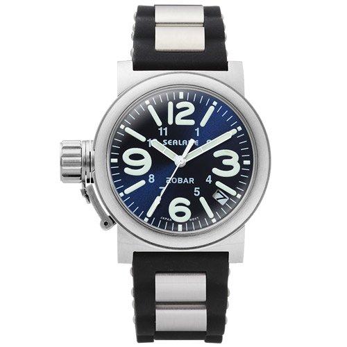 [シーレーン]SEALANE 腕時計 20BAR スーパードームレンズ SE51-PBL メンズ
