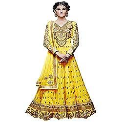 Fabtantra Women's Georgette Anarkali Dress Material