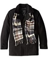 London Fog Men's Tall Bleecker Coat with Scarf and Quilted Lining