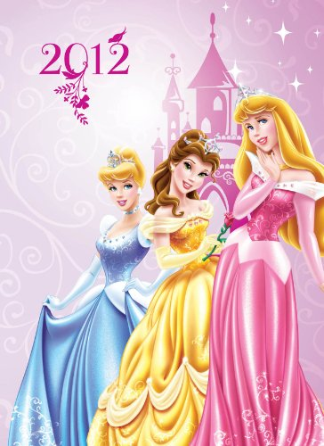 Official Disney Princess A6 Diary 2012