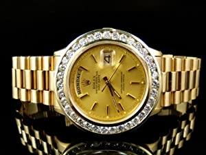 18k Yellow Gold Rolex President Day-Date Diamond