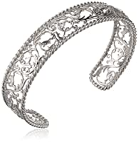 "Sterling Silver Twisted Filigree Cuff Bracelet, 7.25"" from PAJ, Inc"