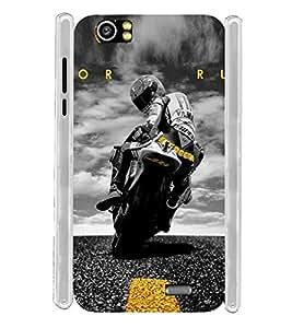 Sports Bike Soft Silicon Rubberized Back Case Cover for Lava Iris X5 :: Lava Iris X5 4G