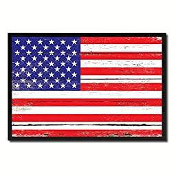 USA National Shabby Chic Flag Art Canvas Print Wall Home Décor Interior Design Souvenir Gift Ideas
