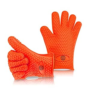 KHOMO GEAR - Heat Resistant Gloves - For BBQ Grill / Ovens / Kitchen - One Size Fits Most