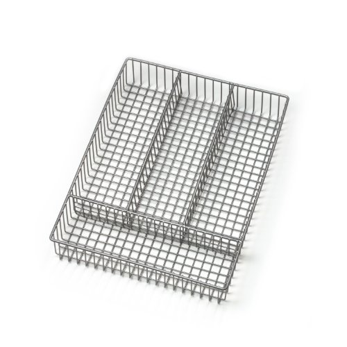Spectrum Diversified Grid Silverware Tray, Small, Satin Nickel (Small Utensil Tray compare prices)