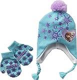 Disney Frozen Elsa & Anna Knit Earflap Hat & Mittens Set -