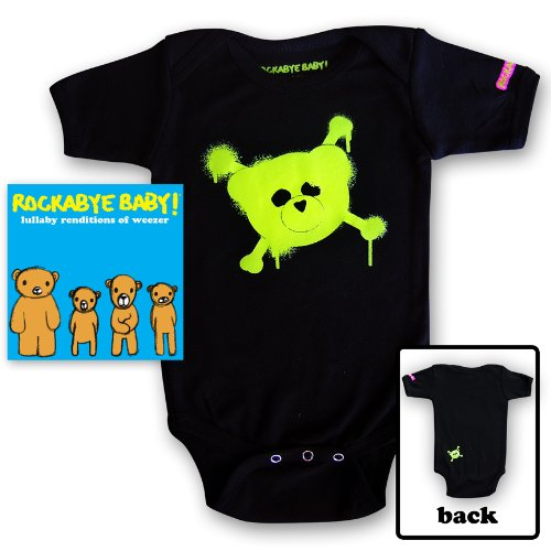 Rockabye Baby! Lullaby Renditions Of Weezer + Organic Baby Bodysuit (Green)