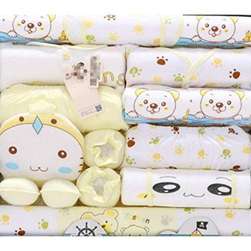 Peak-Peak 20pcs Newborn Baby Cute Clothes Girls Boys Clothing Set infant Outfits Suit Yellow