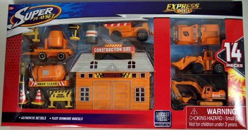 Super Player Express Wheels Construction 14 Pc