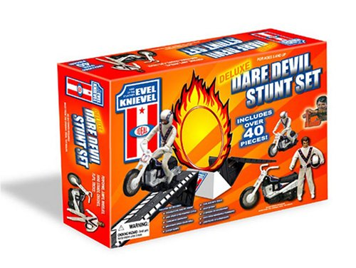 Buy Low Price Poof Slinky Evel Knievel Deluxe Dare Devil Stunt Set Figure (B000FE3MLA)