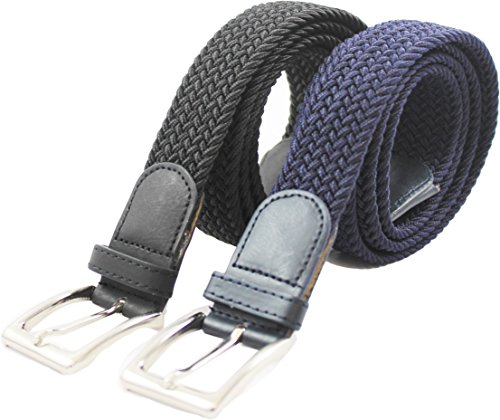 komfortabel-elastische-geflochtener-stretch-gurtel-stretchbelt-stoffgurtel-flecht-mit-pu-leder-fur-d