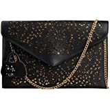 Hynes Victory Faux Leather Hollow Envelope Purse