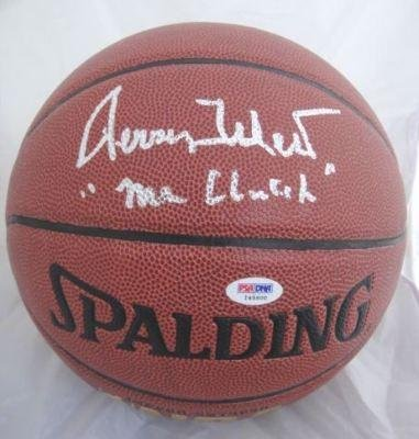 Jerry West Autographed Ball - Spalding I O PSA - Autographed Basketballs