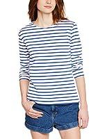 Armor Lux 04277 - T-shirt - À rayures - Manches longues - Femme