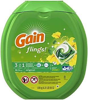 81-Count Gain Flings Original Laundry Detergent Pacs