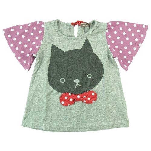 nico hrat ネコフレアTシャツ 100cm/杢グレー NO.B-230145