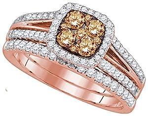 1 Carat Total Weight Diamond Ladies Bridal Set