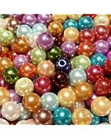 Libbyshouse Lot de 100 perles colorées en verre 6 mm