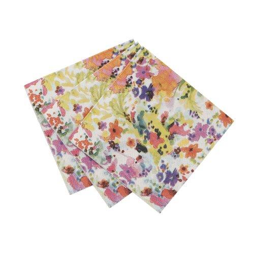Floral Decor Canape Napkins, Set Of 40 front-318849