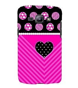 Purple Black Heart 3D Hard Polycarbonate Designer Back Case Cover for Samsung Galaxy J1 (2016) :: Samsung Galaxy J1 (2016) J120H