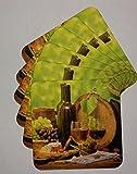 25 Stück Weinuntersetzer, Glasuntersetzer, Bierdeckel Gastronomie Deckel Getränke, Gläserdeckel, Getränkeuntersetzer, Bierfilze aus Pappe mit Wein-Motiv