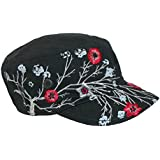 Scala Pronto Women's Cadet With Flower Embroidery Cap