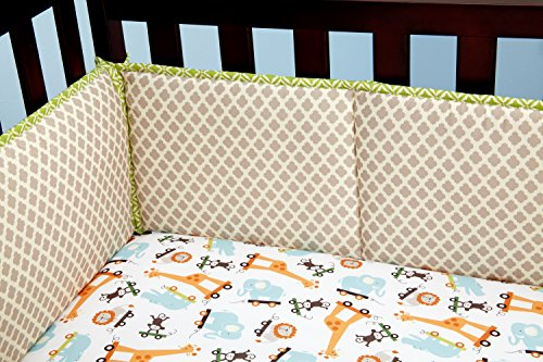 Little Bedding Crib Bumper, Critter Pals