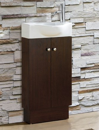 BATHROOM VANITY SET - CABINET AND SINK- GLENWOOD WENGE
