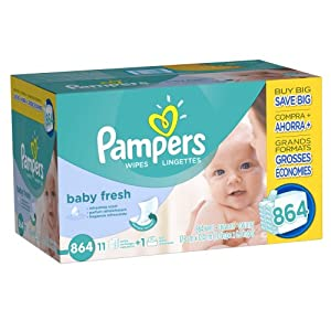 Pampers Baby Fresh Wipes 12x Box with Tub 864 Count