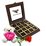 Lovable Chocolate Collection With Rose And Love Teddy - Chocholik Belgium Chocolates