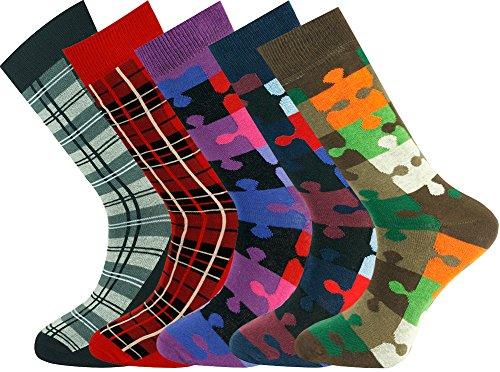 Mysocks-5-Paar-Socken-Herren-Feinste-gekmmte-Baumwolle-Gre-42-46