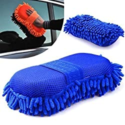 Autostark Microfiber cleaning Cloth Sponge Hand Gloves car dashboard cleaning chenille - Random Color