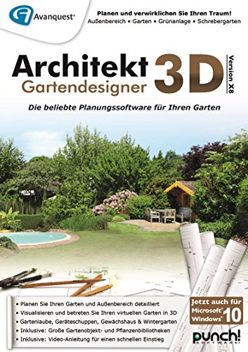 architekt 3d x8 gartendesigner pc download. Black Bedroom Furniture Sets. Home Design Ideas