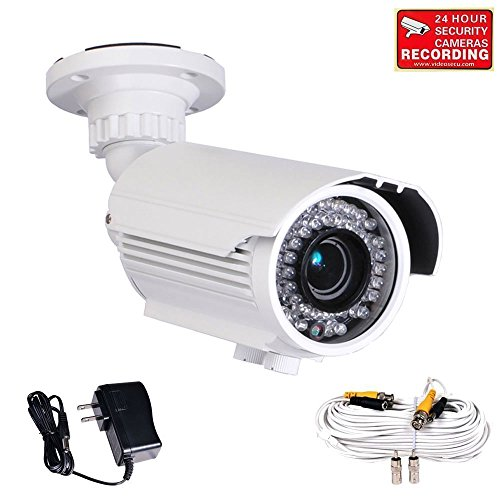Videosecu Built-In 1/3'' Sony Effio Color Ccd 700Tvl Security Camera Day Night Vision Ir Zoom Focus Weatherproof Outdoor High Resolution 42 Infrared Leds 4-9Mm Vari-Focal Lens For Cctv Dvr Home Surveillance System With Power Supply And Extension Cable Ire