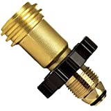 Propane Adapter 11051 Universal Fit Propane Tank Adaptor QCC1 POL - Fits 50lb Tank - No Tools Required Hand Wheel Easy Grip from Grill Doc