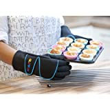 Best Oven Gloves with fingers As Seen on TV cooking roast dinners BBQ Baking Large Blueby Gloven