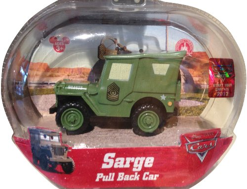 Cars Land Sarge Pull Back Car w/ Moving Eyes - Disney Parks Exclusive & Limited Availability