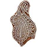Hashcart Mughal Boota Wooden Printing Stamp Block Hand-Carved For Heena Printing Mehandi Print Saree Border Printing