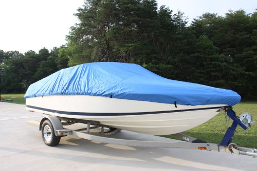 VORTEX HEAVY DUTY VHULL FISH SKI RUNABOUT COVER FOR 20 21 22' BOAT, BEST AVAILABLE COVER BLUE