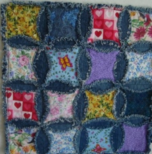 Denim Pillow Top Quilting Kit, Set of 16 Blocks