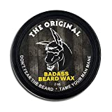 Badass Beard Care Beard Wax For Men - The original Scent, 2 oz - Softens Beard Hair, Leaves Your Beard Looking and Feeling More Dense