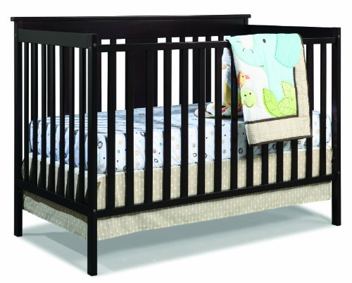 Stork Craft Mission Ridge Fixed Side Convertible Crib, Espresso